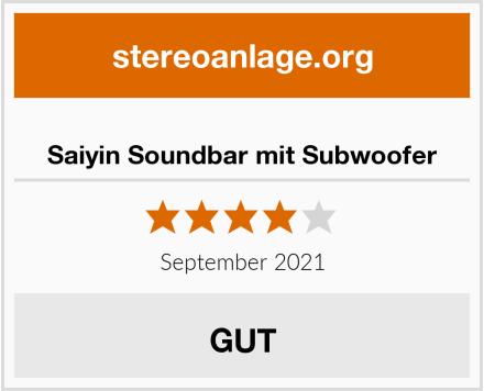 Saiyin Soundbar mit Subwoofer Test