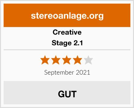Creative Stage 2.1 Test