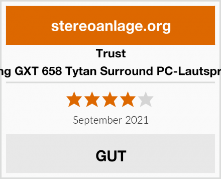 Trust Gaming GXT 658 Tytan Surround PC-Lautsprecher Test