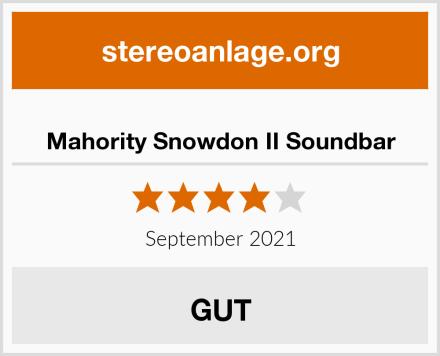 Mahority Snowdon II Soundbar Test