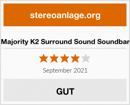 Majority K2 Surround Sound Soundbar Test