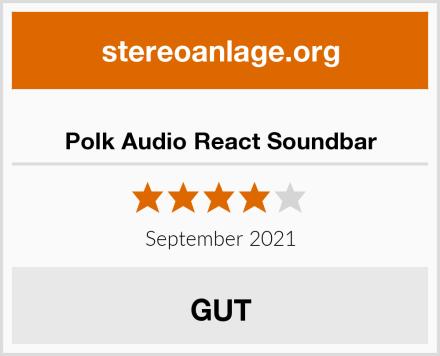 Polk Audio React Soundbar Test
