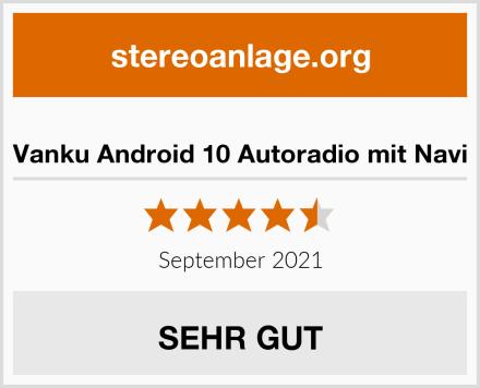 Vanku Android 10 Autoradio mit Navi Test
