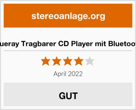 Gueray Tragbarer CD Player mit Bluetooth Test