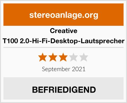 Creative T100 2.0-Hi-Fi-Desktop-Lautsprecher Test