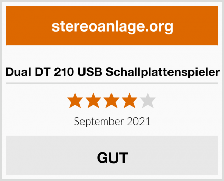 Dual DT 210 USB Schallplattenspieler Test