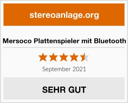 Mersoco Plattenspieler mit Bluetooth Test