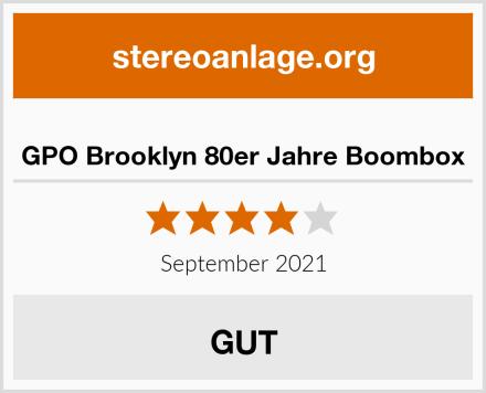 GPO Brooklyn 80er Jahre Boombox Test