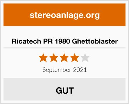 Ricatech PR 1980 Ghettoblaster Test
