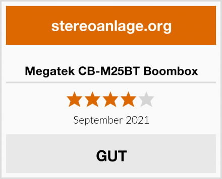 Megatek CB-M25BT Boombox Test