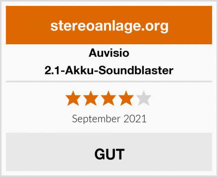 Auvisio 2.1-Akku-Soundblaster Test