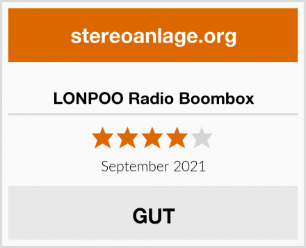 LONPOO Radio Boombox Test