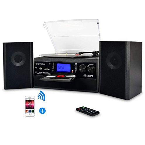 IGITNOW Plattenspieler mit Stereo Lautsprechern